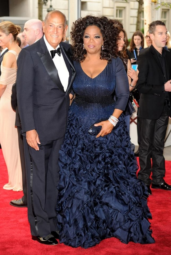 Oscar De La Renta i Oprah Winfrey podczas Metropolitan Museum Of Art's Costume Institute Ball 2 (2010)